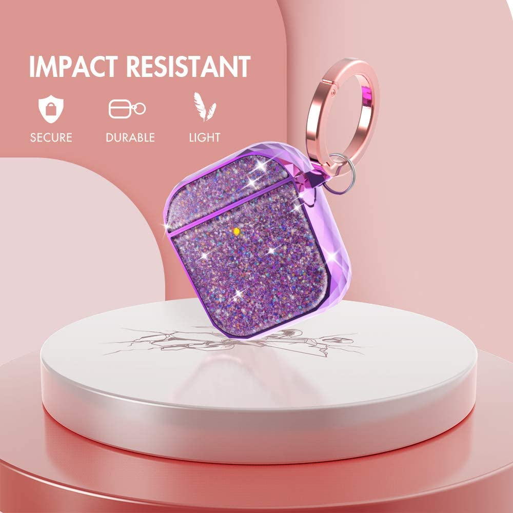 Ahastyle Twinkle Glitter Protection Airpods 1&2 Case