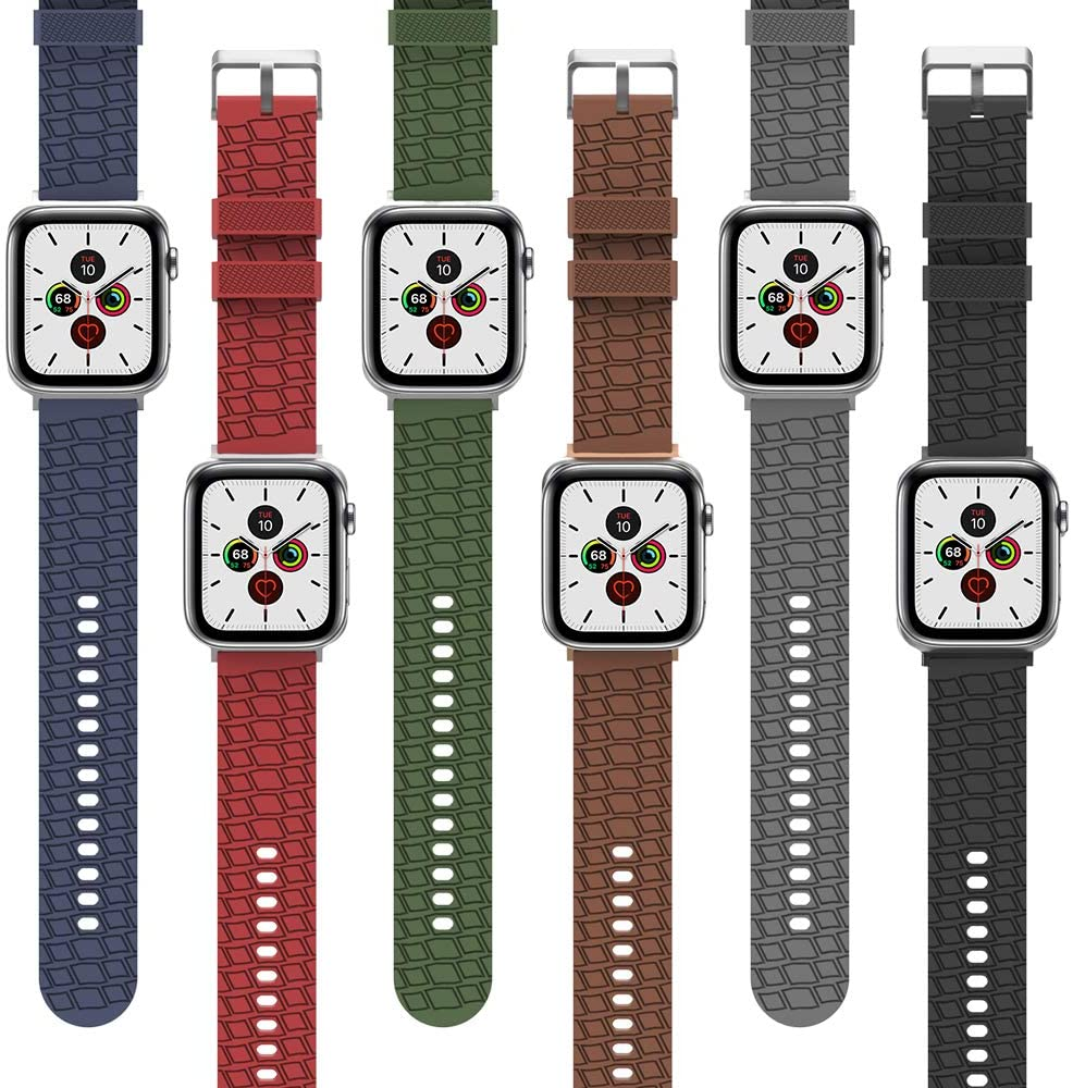 AhaStyle Tire Texture Premium Silicone Apple Watch Band 40mm / 38mm