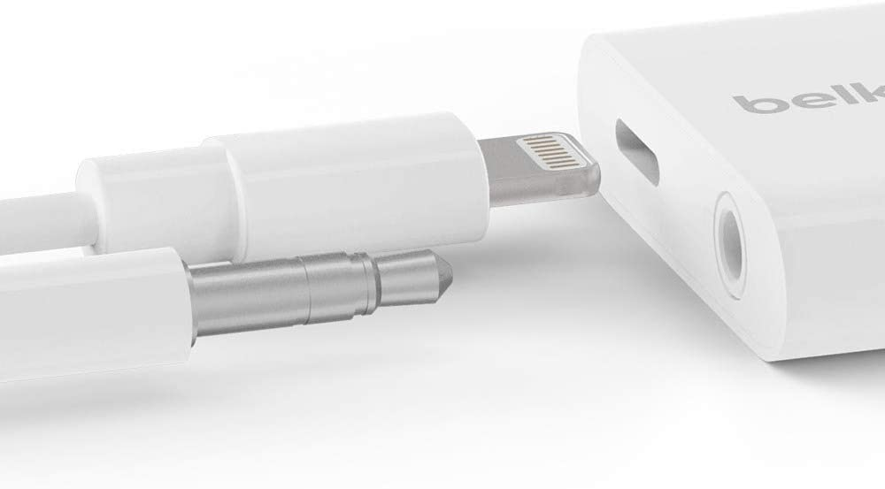 Belkin 3.5 mm Audio + Charge Rock Star Adapter for iPhone
