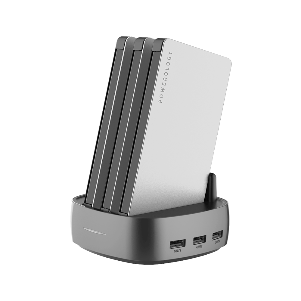Powerology 8000mAh 3in1 Power Bank Station