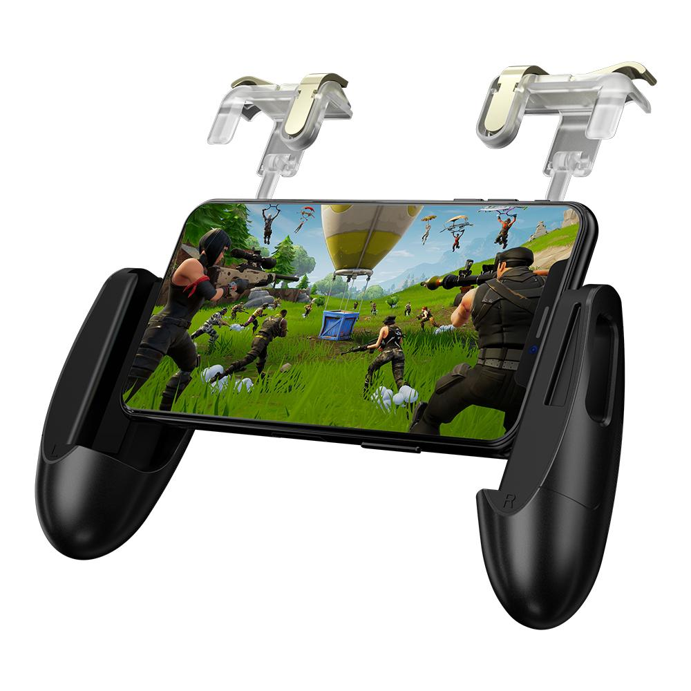 "GameSir F2 Mobile Game Controller, L1R1 Game Trigger Joystick for 4.5-6.4"" Phone, Mobile Controller Grip for PUBG/Knives Out/Rules of Survival"